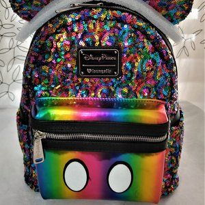 Disney Loungefly Mickey Rainbow Mini Backpack
